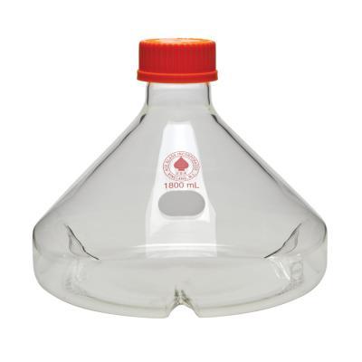 WHEATON 培养瓶 培养,稀释,三个扰流板, 螺纹盖